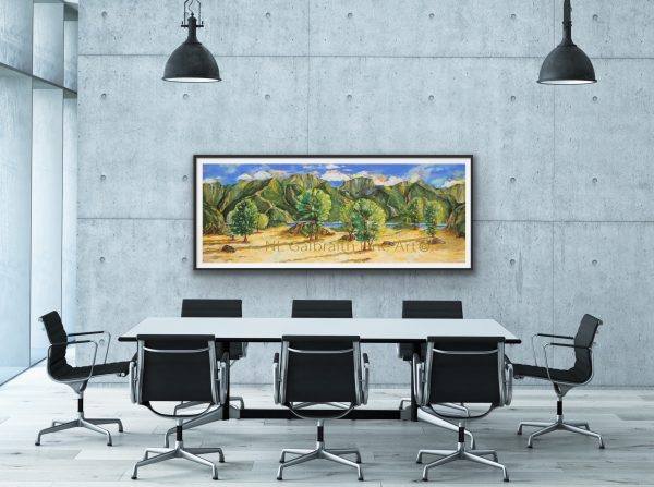 Long mountainous landscape for office conference meeting room