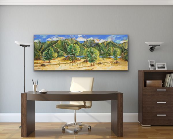 Oversized landscape for office space or by a desk or credenza