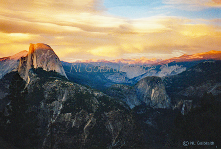 An etherial photograph of Half Dome, few will ever see or experience.