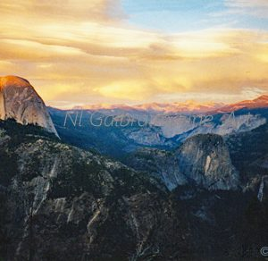 Yosemite, Sunset at Half Dome, #1 in the Yosemite Series