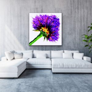 A Series of Single Flowers – Purple Flower