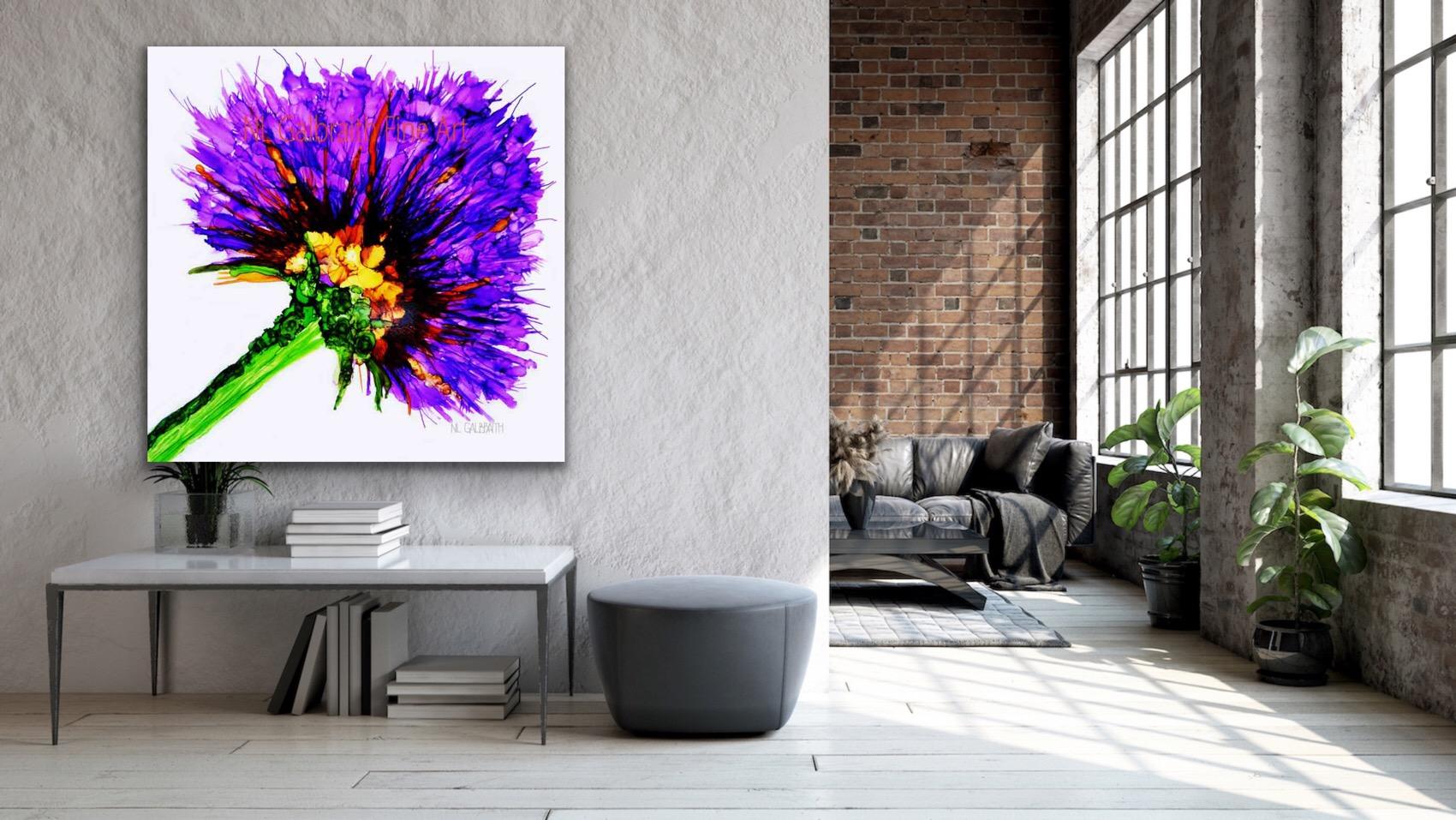 Large Purple Flower in a Flat
