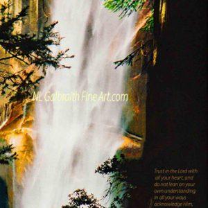 Yosemite's Vernal Falls on the Mist Trail, #2 in the Yosemite Serie