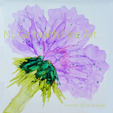 Oversized Violet Flower Graphicres72
