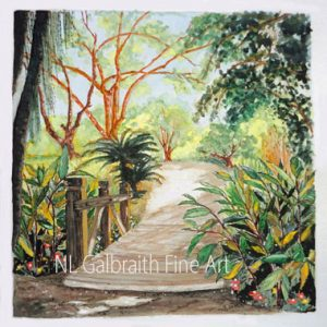 """Fullerton Arboretum""; Exhibition Finalist Winner in Art Competition."