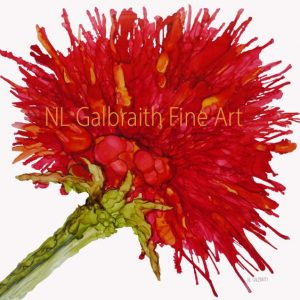 "A Series of Single Flowers – ""Crimson Red Flower"" On Exhibit All Month In February!"