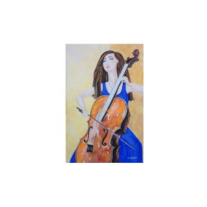 """Read more about the article NL Galbraith's new painting """"The Cellist's Sweet Note""""."""