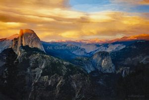 Yosemite's Sunset At Half Dome, Yosemite #1 in this series