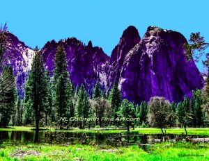 Yosemite Valley in Spring; The Man In The Mountain.  (Yosemite #3)