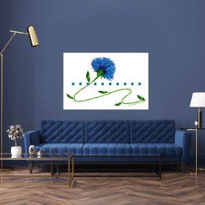 Blue Flower On A Vine