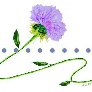 Violet Flower On A Vine