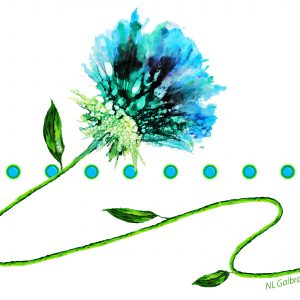 Blue Green Flower On a Vine