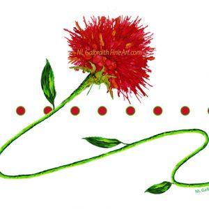 Red Flower On A Vine