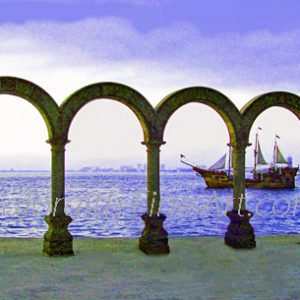 The Malecon Arches & Miragalante Galleon